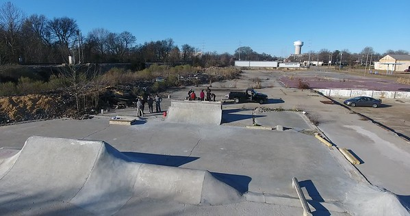 Drone footage of The Slab in January of 2017