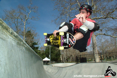 Punk Rock Skateboards team rider Joe Sib at Glendale Skatepark - on and El Cochino - Glendale, CA