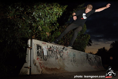 Team Goon skater Nolan at Jersey Barrier - Orange County, CA
