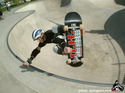 Team Goon skater Don Hamilton at Fontana Skatepark - Fontana, CA