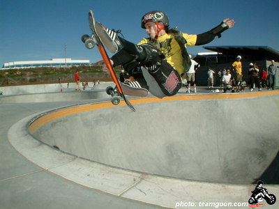 Team Goon skater Chris Graham at Etnies Skatepark - Lake Forest, CA