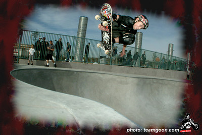 Team Goon skater David at Etnies Skatepark - Lake Forest, CA