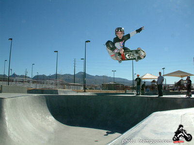 Team Goon skater Chris Graham at Anthen Skatepark - Henderson, NV