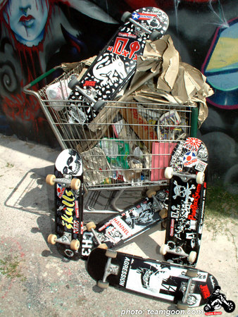 Assorted Punk Rock Skateboards decks