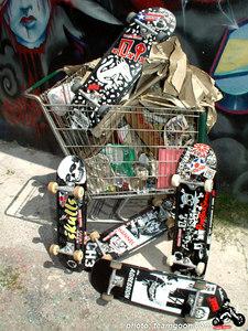 Assorted Punk Rock Skateboards decks