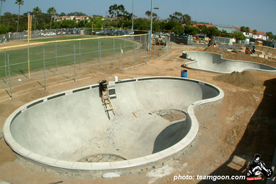 Encinitas YMCA bowl in the construction phase  - Encinitas, CA