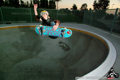 Team Goon skater Nolan at Etnies Skatepark - Lake Forest, CA