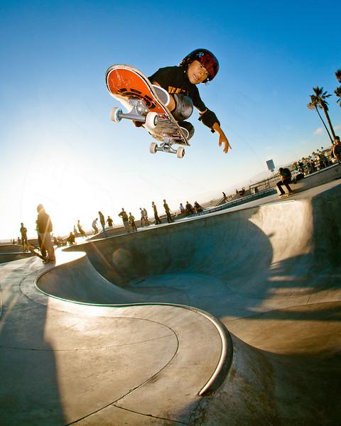 Skateboarder Asher Bradshaw