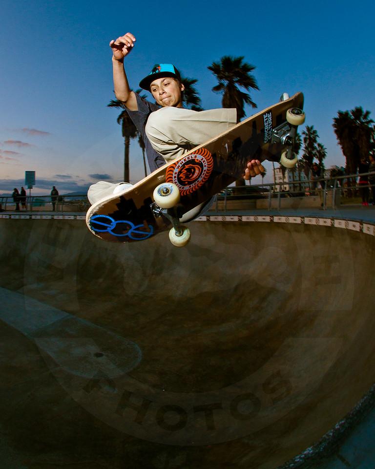 Unknown Skateboarder @ Venice Beach Skatepark, Venice California.