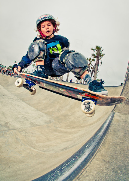 Skateboarder Laird Brunson at Venice Beach Skatepark