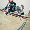 Skateboarder Laird Brunson at Venice Beach Skatepark