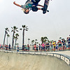 Skateboarder Desmond Shepherd at Venice Beach Skatepark
