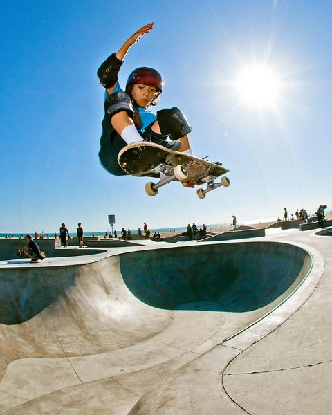 Skateboarder Asher Bradshaw @ Venice Beach Skatepark