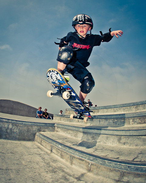 Unknown Skateboarder @ Venice Skatepark, Venice Beach California. VeniceBeachPhotos.com