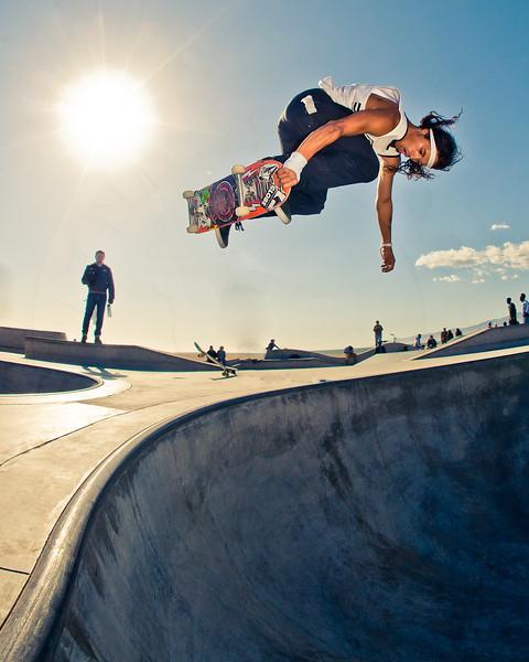 David Gonzalez @ Venice Skatepark, Venice Beach California. VeniceBeachPhotos.com