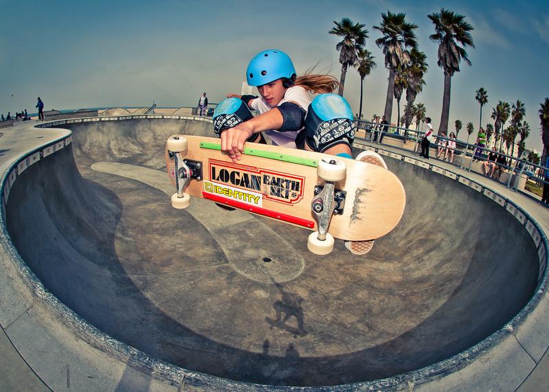 Arianna Carmona @ Venice Skatepark, Venice Beach California. VeniceBeachPhotos.com