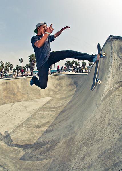 Eli Franklin @ Venice Skatepark, Venice Beach California. VeniceBeachPhotos.com