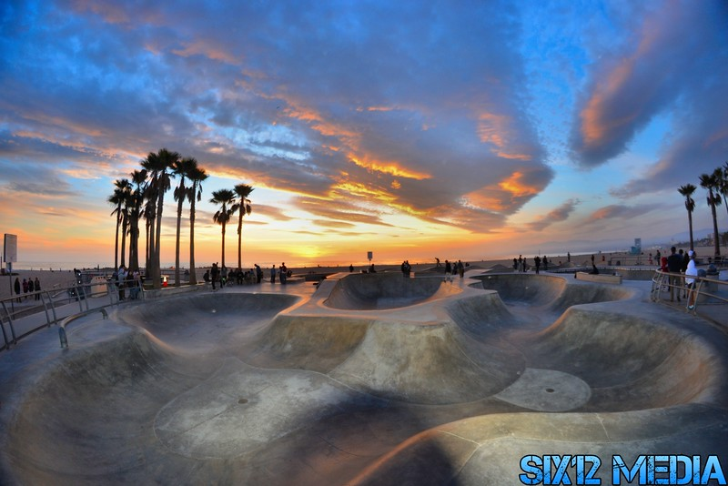 Skateboard Wonderland walking distance from 510 Pacific Ave - Venice Skatepark | Photo courtesy Six12 Media http://six12media.blogspot.com/2014/03/venice-skatepark-sunsets.html