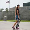 Skater Girl & Skateboard Skateboarding in Venice! Nikon D800 + 70-200mm VR2 F/2.8 Nikkor Lens