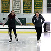 Brianna Babineau, 18, and Nicole Melanson, 19, both of Lunenburg spend the afternoon skating at the public ice skating held at Wallace Civic Center in Fitchburg on Tuesday. SENTINEL & ENTERPRISE/JOHN LOVE