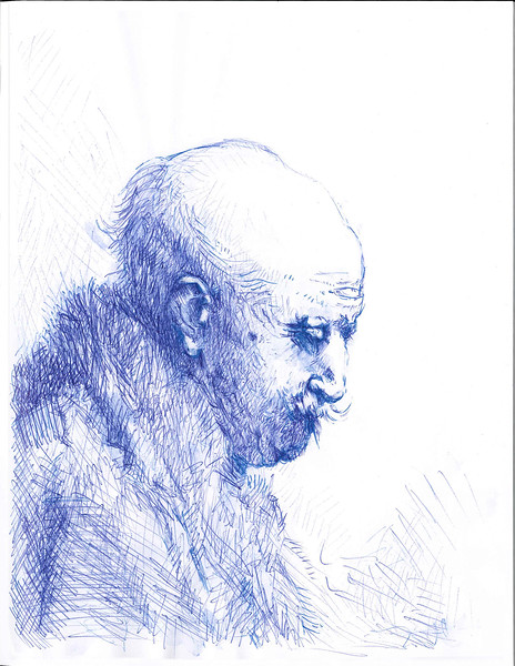 old man after Rembrandt 3/20/2015