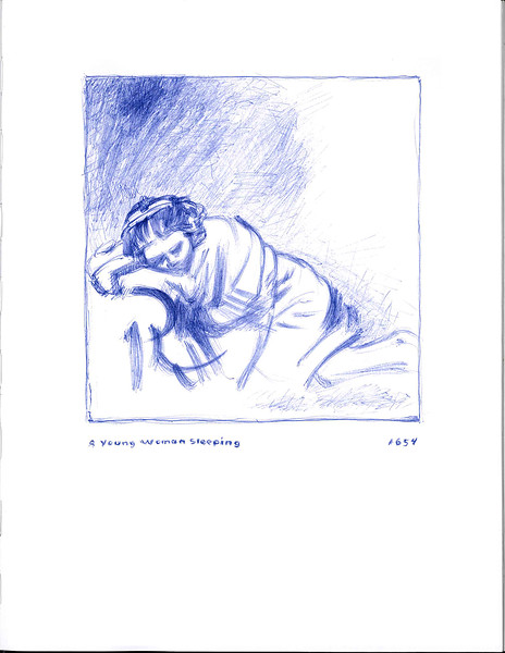 study of young woman sleeping
