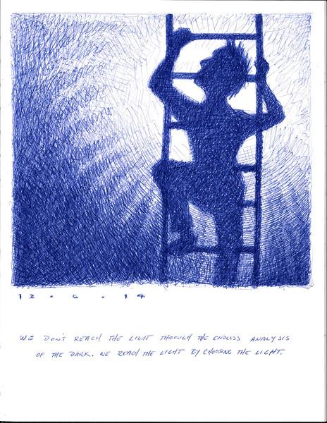 reaching the light 12/6/2014