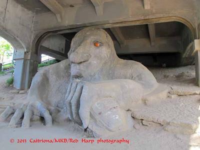 Fremont Troll under the Aurora Bridge