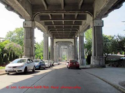 Under the Aurora bridge over Lake Union