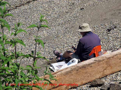 mystery artist;  he was their plein air painting but wasn't one of our group;  I did speak with him and invited him.