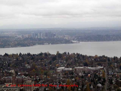 Bellevue across Lake Washington from Columbia Center
