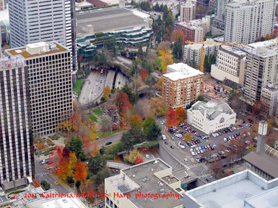 Convention Center and Freeway Park from Columbia Center