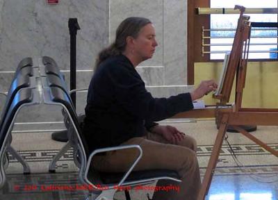 Sue sketching