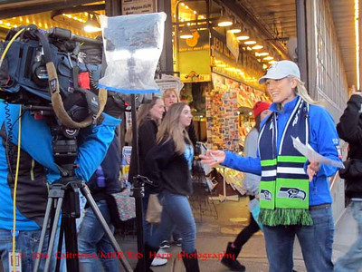 KOMO filming at the Market.
