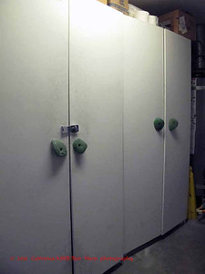 storage cabinets with handholds as handles
