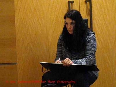 Angie sketching