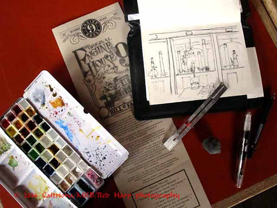 my sketch kit with Engine House #9 menu