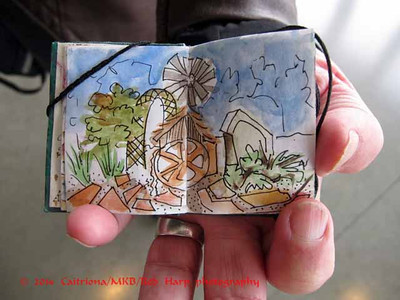 Sue's very tiny sketchbook.