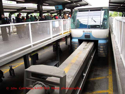 Monorail track.