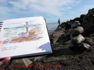 sketch on Mukilteo beach