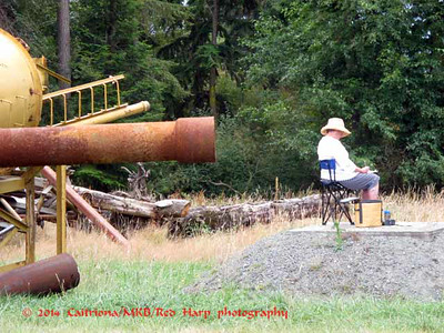 one of the Whidbey Island Sketchers;  this looks ominous but is quite safe!