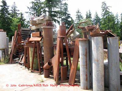 sculpture garden:  raw materials?