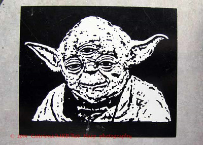 Yoda sticker... he has a 3rd eye