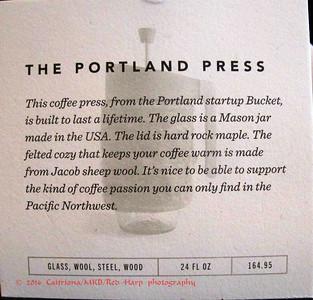 "Portland press.... this is so ""Portlandia""!"