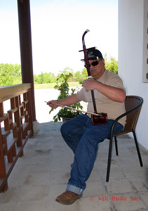 Michael plays the traditional Erhu