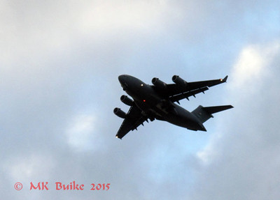 Large Air Force plane on approach