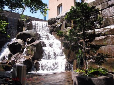 Waterfall Garden park in Pioneer Square