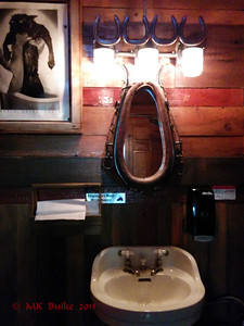 The horse collar mirror at Drunky's BBQ