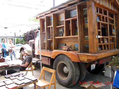 old truck as art display