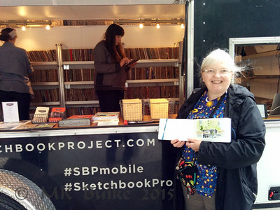 Me with my sketch of the Sketchbook Project trailer